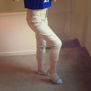 NWT NY&Co Cropped Khaki Trousers